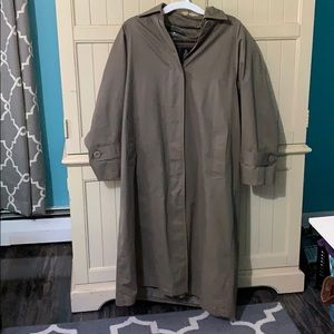 London Fog Long Trench Coat w/ Removable Liner